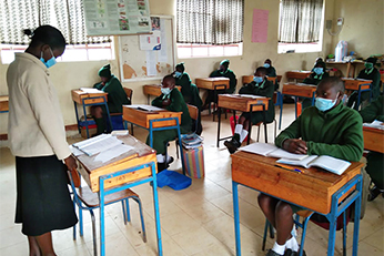 Students in classroon at St. Francis Girls Secondary School