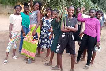 Group of gals representing the Girls Hostel
