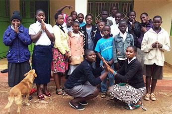 Students at St. Kizito Mission School