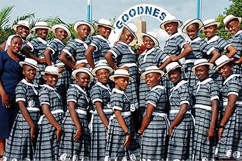 Students at Notre Dame Secondary School Mkar