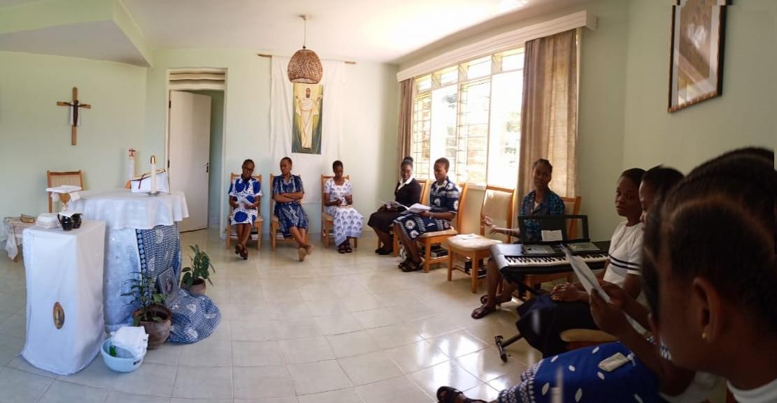 Postulants in the chapel