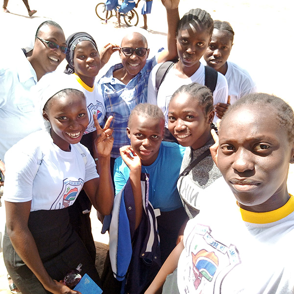 Girls with sisters Ejura and Caroline