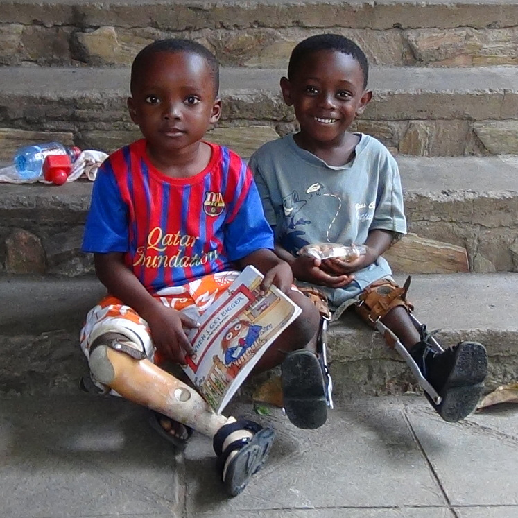 Two children that have benefited from the Orthopedic Training Centre
