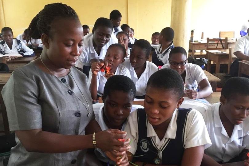 Notre Dame Girls Senior High School in Sunyani, Ghana