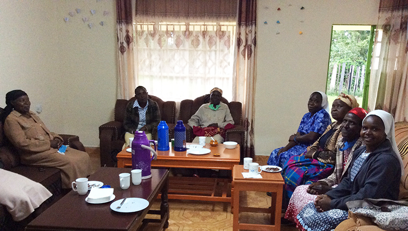 small christian community visits Sisters