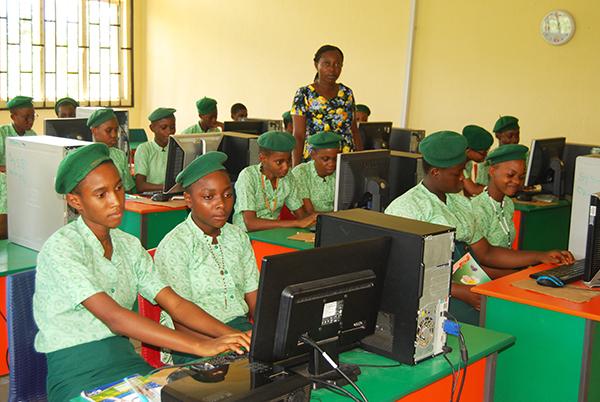 Classroom at Notre Dame Girls' Secondary School, Urua Edet Obo, Nigeria