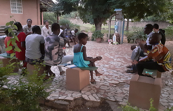 A talk given by novice Frances Okafo to the children about our Mother Mary being a role model, as they end May devotion