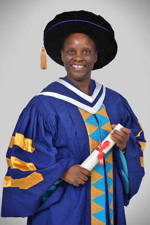 Sister Jacinta Achieng Ondeng on graduation day